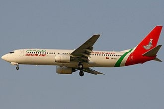 Oman Air - An Oman Air Boeing 737-800 with the airline's initial color scheme