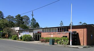Bonalbo - The police station, general store and post office
