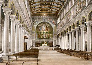 St Boniface's Abbey, Munich - St. Boniface's Abbey interior c. 1894