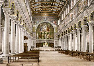 St. Boniface's Abbey - St. Boniface's Abbey interior c. 1894