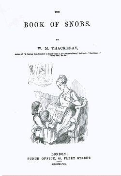 Le Livre Des Snobs Wikipedia