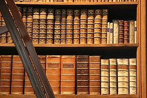 Livres anciens de la Bibliothèque nationale autrichienne, dans la Hofburg, à Vienne. (définition réelle 3015×2010)