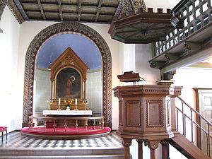 Vestermarie Church - Church interior