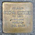Boschán Erzsébet stolperstein (Budapest-14 Semsey Andor u 12).jpg