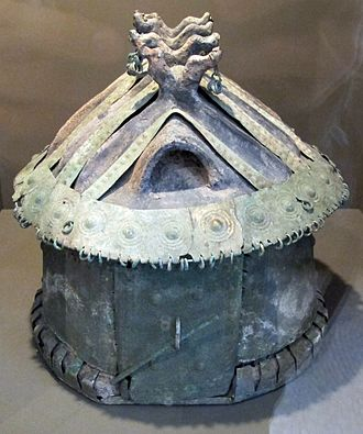 Vulci - Cinerary urn in the form of a house, 8th c. BC, Vulci
