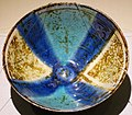 Bowl with design of flowering plants and blue pattern, Iran, 12th-13th century AD, luster ware pottery - Matsuoka Museum of Art - Tokyo, Japan - DSC07320.JPG