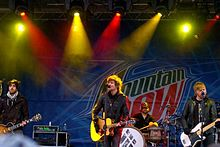 Boys Like Girls performing at Mount Snow in 2009