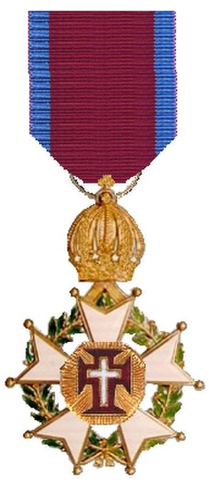Order of Christ (Brazil) - The decoration of a military knight (front)