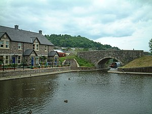 Monmouthshire and Brecon Canal - The canal basin at Brecon