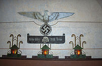 Motto of the Waffen-SS on a wall of the Fort v...