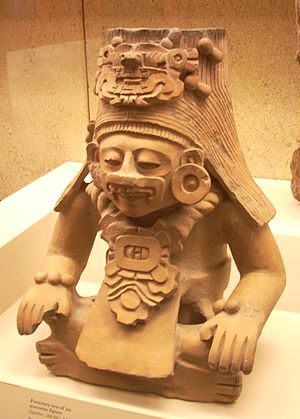 Indigenous people of Oaxaca - Zapotec funerary urn in the British Museum