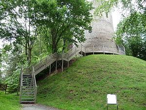 Bronllys - Bronllys Castle motte and tower