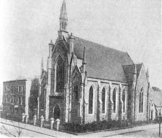 5th Congress of the Russian Social Democratic Labour Party - Brotherhood Church at Southgate Road in London, where congress sessions took place.
