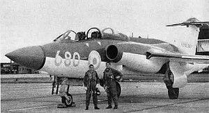 RAF Lossiemouth - Blackburn Buccaneer S.1 of No. 700Z Squadron at RNAS Lossiemouth circa 1961