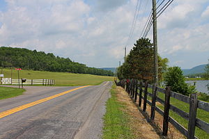Monroe Township, Wyoming County, Pennsylvania - Buckwheat Hollow Road looking north in Monroe Township
