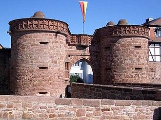 """Büdingen - """"Jerusalem Gate"""" (or """"lower gate"""")."""