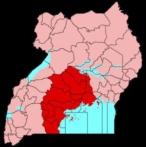 Buganda - Image: Buganda (map)