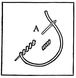 Embroidery stitch - Bullion knot