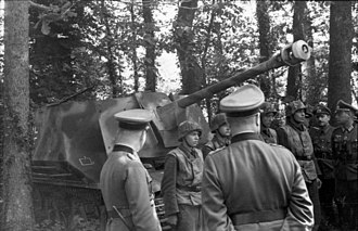 Marder I - Marder I of the 21st Panzer in Normandy, converted from Hotchkiss, 1944.