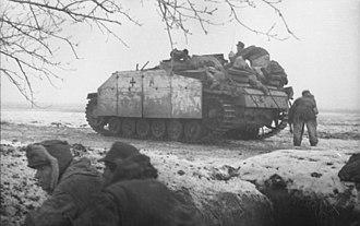 "Bazooka - A German StuG III with ""Schürzen"" armor skirts"