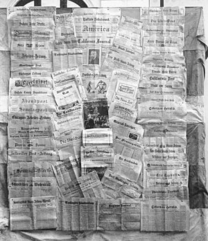 Louise Adeline Weitzel - German-language newspapers in North America in 1922