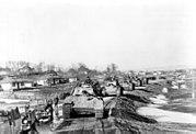 Bundesarchiv Bild 183-J24359, Rumänien, Kolonne von Panzer V (Panther)