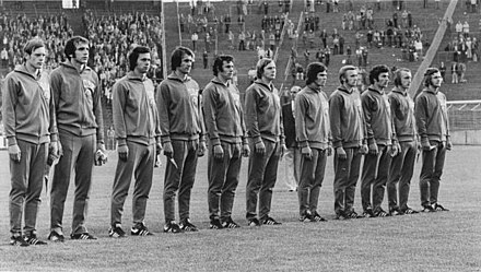 East German line-up v. Australia Bundesarchiv Bild 183-N0615-0011, X. Fussball-WM, DDR-Nationalmannschaft.jpg