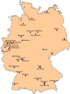 Bundesliga-Landkarte