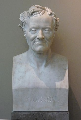 Vivant Denon - Commemorative bust by Joseph Charles Martin, shown at the Salon of 1827 (Louvre)