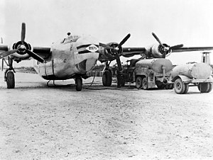 Consolidated C-87 Liberator Express - A C-109 tanker unloading