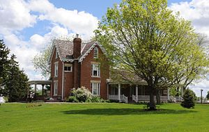 National Register of Historic Places listings in Madison County, Iowa - Image: C.D. BEVINGTON HOUSE AND STONE BARN; MADISON COUNTY, IA