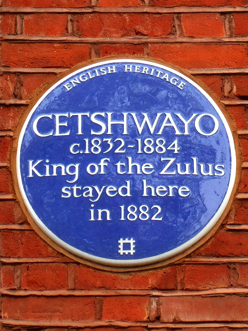 CETSHWAYO c1832-1884 King of the Zulus stayed here in 1882.jpg