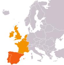 europe de l ouest carte Europe de l'Ouest — Wikipédia
