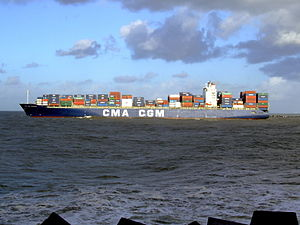 CMA CGM Debussy p8, leaving Port of Rotterdam, Holland 21-Jan-2007.jpg