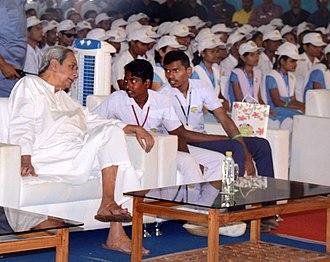 Naveen Patnaik - CM Naveen Patnaik during Children's day celebration.