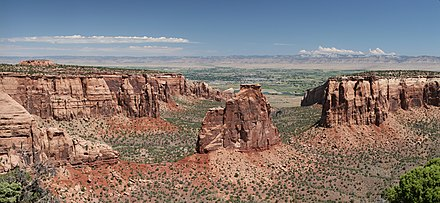Monument Canyon, some of the high desert lands found in Colorado CONM Independence monument 2.jpg