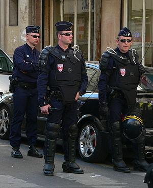Compagnies Républicaines de Sécurité - CRS in riot control gear