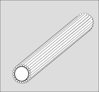 Continuous-rod warhead - Image: CR Unweld