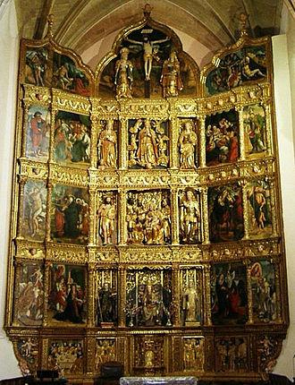 Plateresque - Altar plateresque of the Cistercian monastery of Santa María del Salvador, in Cañas (La Rioja)