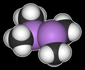 Cadet's fuming liquid - Space-filling model of dicacodyl