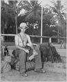 """Camp """"Y"""". Captain Derby. Trincomallee, Ceylon, July 24, 1945. - NARA - 540053.tif"""