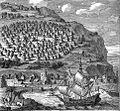 Camp des Arabes sur le Mont Carmel du costé de la ville de Caifa. 1717.jpg
