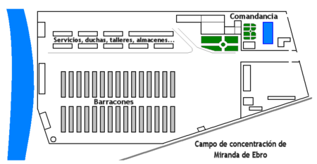 Plan du camp de concentration de Miranda de Ebro
