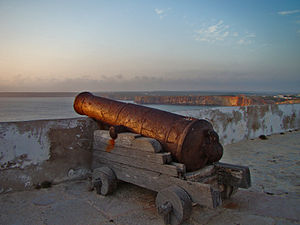 Sagres Point - Cannon inside the fortress