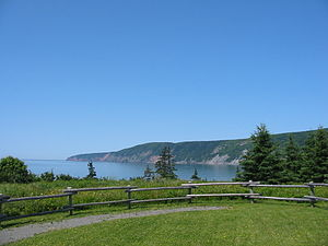 Bay of Fundy - Cape Chignecto, as viewed from the Visitor Centre at Cape Chignecto Provincial Park.