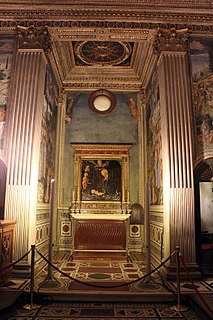 chapel with wallpaintings by Benozzo Gozzoli