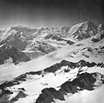 Capps Glacier, junction of valley glacier, and icefall, August 26, 1969 (GLACIERS 6448).jpg