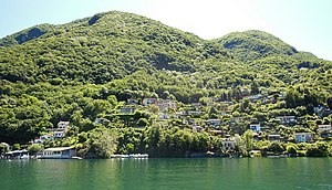 Caprino, Switzerland - The village of Caprino from the water.