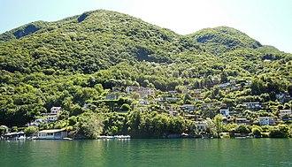 Caprino, Switzerland - The village of Caprino from the water.