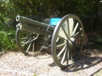 A German M96nA artillery piece captured during the course of the battle by the 33rd Australian Battalion